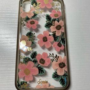 Pink floral iPhone XS Max phone case